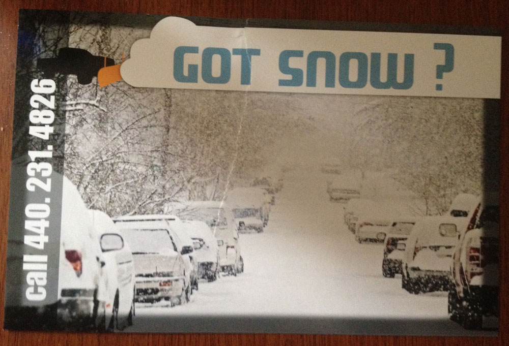 Got Snow - 2013 Flyer (Front)